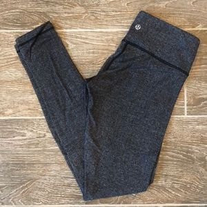 Lululemon Wunder Under Pants - mid rise - 6 - blk